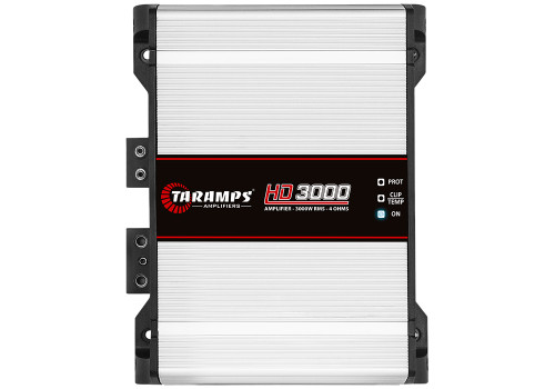 Taramps MD3000-1 Full Range Mono 1 Ohm 3000W Car Audio Amplifier  1 x Taramps Electronics MD3000-1 Mono 3000W 1 Ohm Amplifier MD Line 3000.1 amplifier is designed with high performance and technology for car audio sound systems. This full range mono amplifier's max power is 3000W with 1 Ohm impedance. This way you can experience and appreciate frequencies in the right measure.