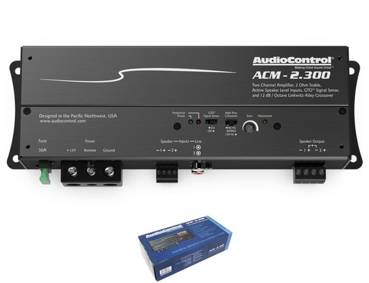 AudioControl 2 Channel 2 Ohm Stable Micro Class D Motorcycle Amplifier ACM-2.300