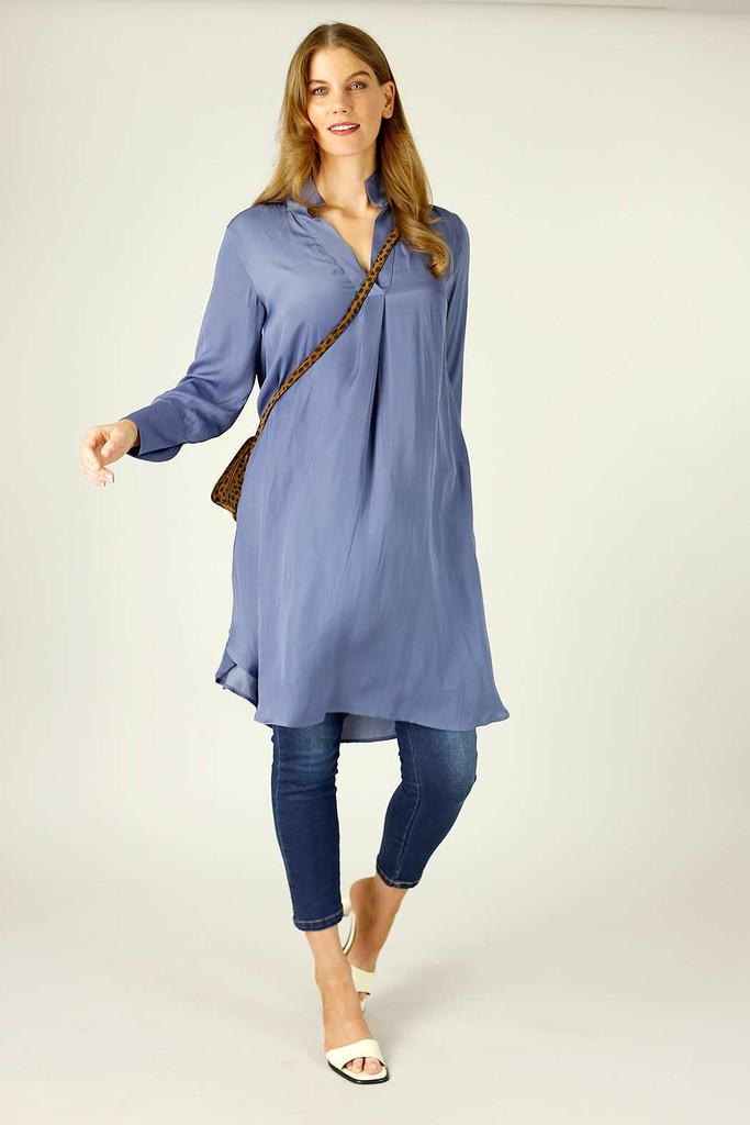 Chambray Seta Oversized Blogger Shirt