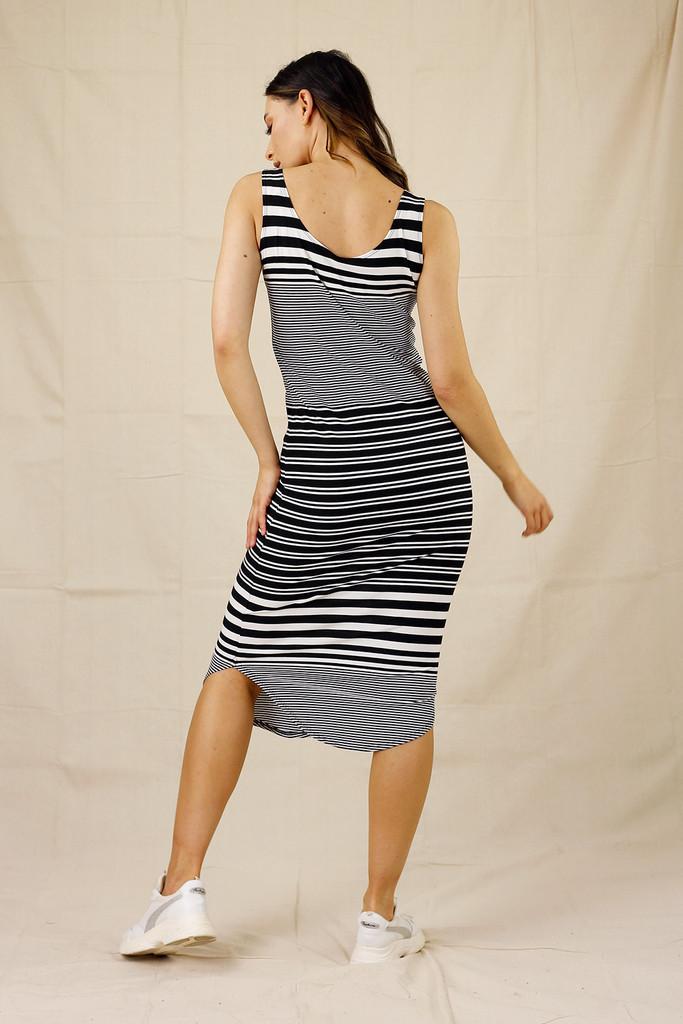 Stripe Jersey Dress