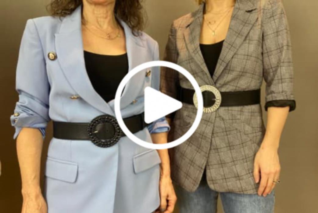 How to use a belt to create shape