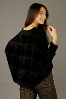 Black Fluffy Stripe Jumper