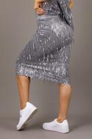 Silver Allure Sequin Skirt