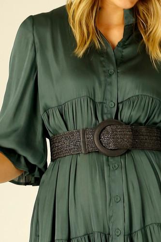 Black Rafia Belt - SALE
