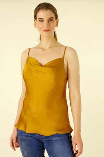 Gold Silky Cowl Cami