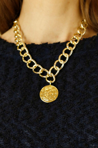 Gold Coin Necklace - SALE