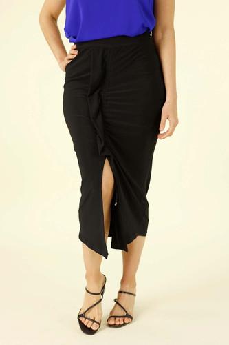 Black Jersey Tie Me Up Skirt - FINAL SALE