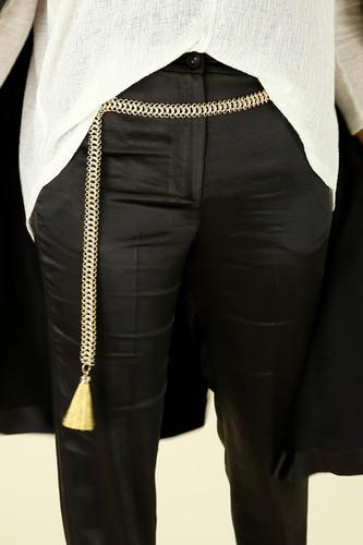 Gold Tassel Chain Belt
