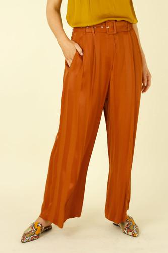 Rust Stripe Baggy Pant - FINAL SALE