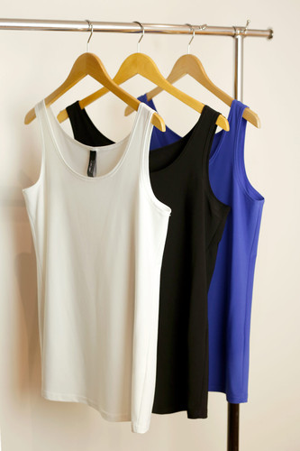 RESTOCKED 3 Pack 70cm Jersey Cami (Blue, Black & White)