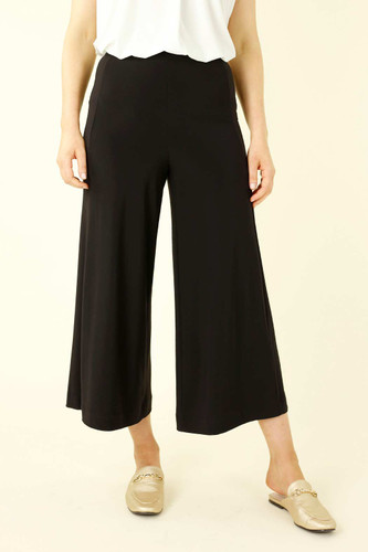 Black Jersey Classic Wide Pant
