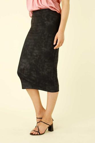 Black Leatherette Tube Skirt