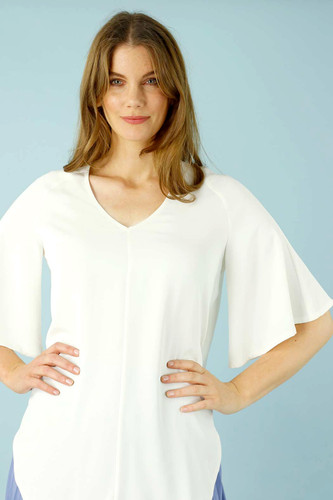 Ivory Soft Touch Bell Sleeve Top - FINAL SALE