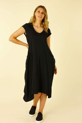 Black Drift Cap Emily Dress - FINAL SALE