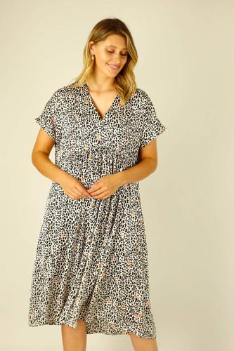 Animal Silky Bondi Kaftan Dress - FINAL SALE