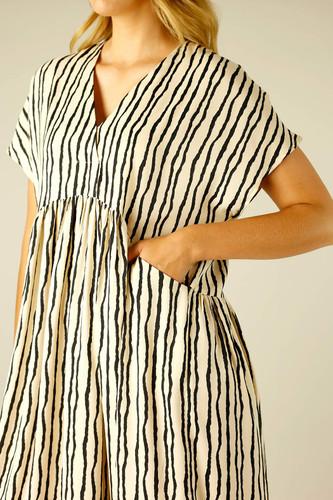Stripe Silky Bondi Kaftan Dress - SALE