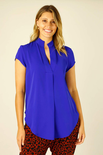 Cobalt Soft Touch Cap Blogger Top