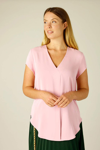 Pink Soft Touch Sydney Cap Blouse