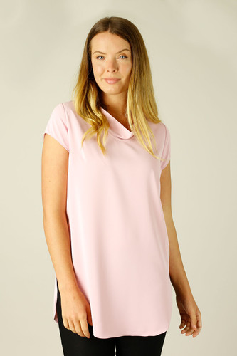 Pink Soft Touch Baby Cowl Top - FINAL SALE