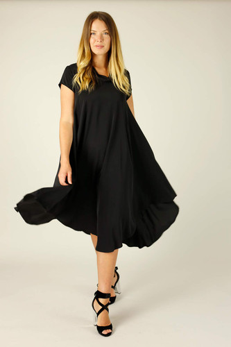Black Soft Touch Baby Cowl Dress - FINAL SALE