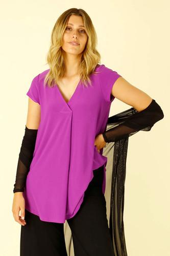 Purple Jersey Coolli Cap Sleeve - FINAL SALE