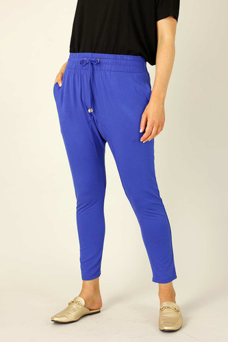 Cobalt Bamboo Drop Crotch Pant