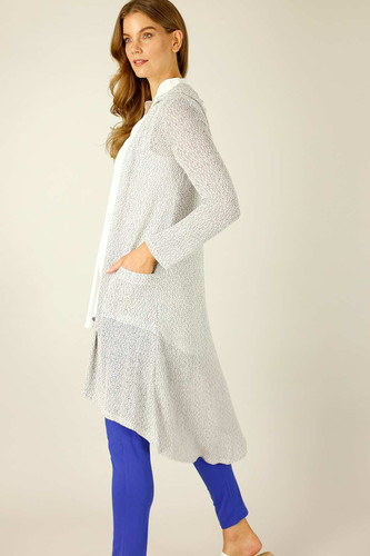 Grey Liberty Knit Travel Cardi