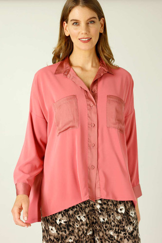 Rose Soft Touch Patchwork Overshirt