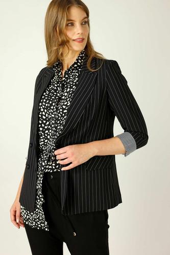 Black Pinstripe Casablanca Blazer