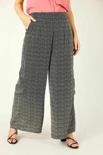 Black Spot Print Pocket Culotte