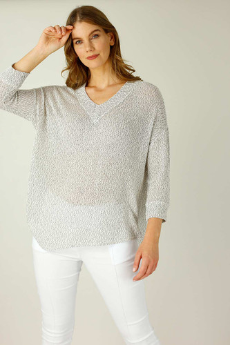 Grey Liberty Knit Vee Overtop