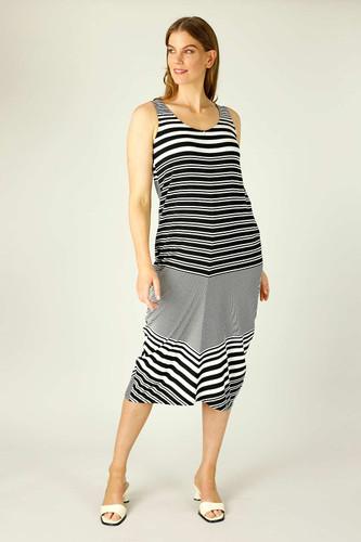Black & White Stripe Jersey Wonderdress - FINAL SALE