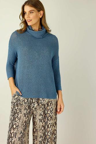 Denim Liberty Knit Turtle Neck - FINAL SALE