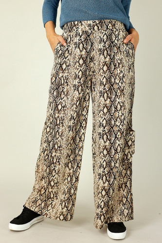 Brown Snake Cargo Culotte