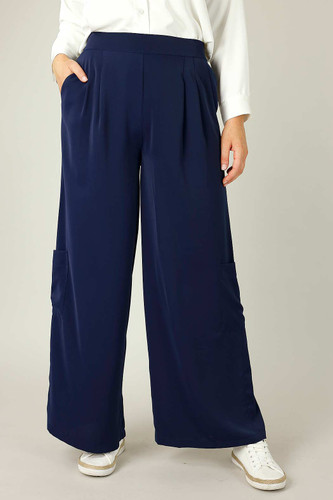 Navy Soft Touch Pocket Culotte