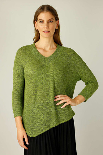 Olive Liberty Knit Vee Overtop