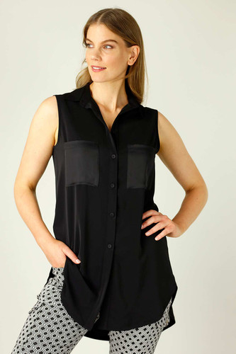 Black Soft Touch Patch Cami