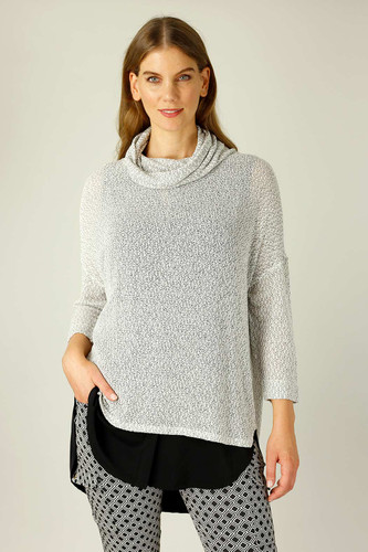 Grey Liberty Knit Turtle Neck