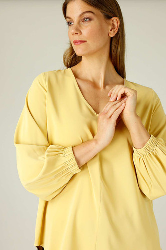 Mustard Soft Touch Audrey Blouse