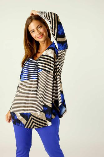 Blue Brown Jersey Codi Top - FINAL SALE