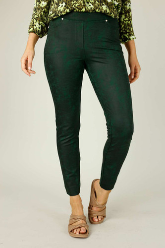 Forest Leatherette Pull On Jean - SALE