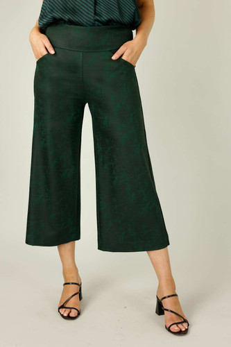 Forest Leatherette Jet Culotte