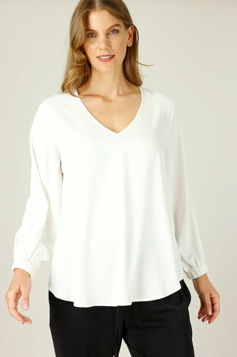 White Soft Touch Audrey Blouse