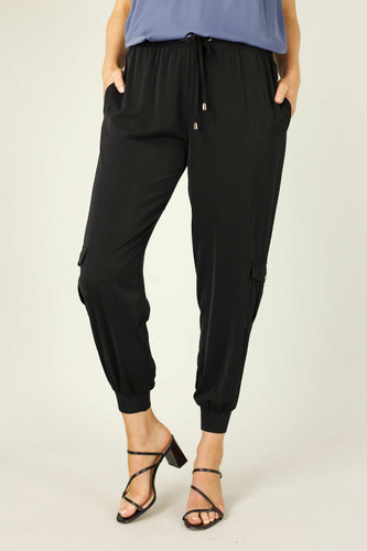 Black Soft Touch Cargo Pant