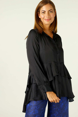 Black Silky Paris Shirt