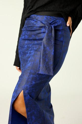 Cobalt Leatherette Harlow Skirt - FINAL SALE