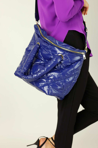 Midnight Quilted Tote Bag - SALE