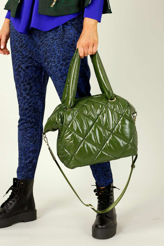 Khaki Quilted Tote Bag - SALE