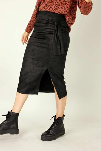 Black Leatherette Harlow Skirt