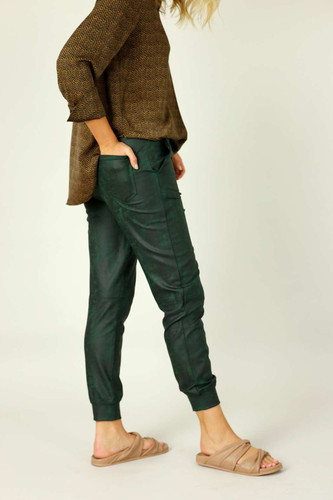 Forest  Leatherette Stitch Jogger